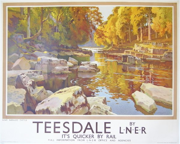 299: E W Haslehust (1866-1948) Teesdale Near Barnard Ca