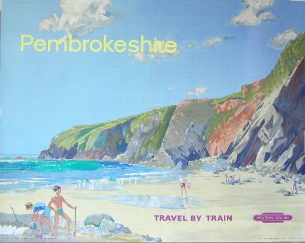 300: Leech Pembrokeshire, original poster printed for B