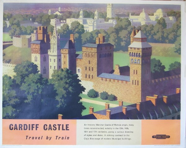 301: Ronald Lampitt Cardiff Castle, original poster pri