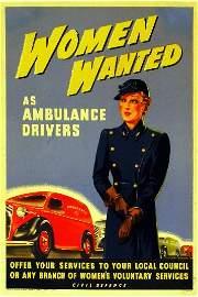 411: Anon Women Wanted as Ambulance Drivers, original p