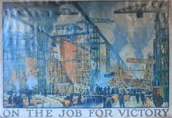 Jonas Lie (1880-1940) On The Job For Victory, issued