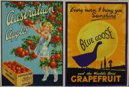 182: F Kenwood Giles Australian Apples, original poster