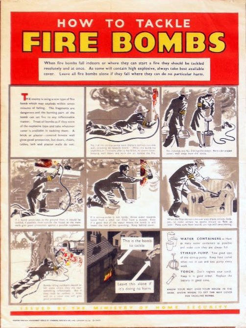 8: Anon How to tackle a fire bomb, printed by Johnson R