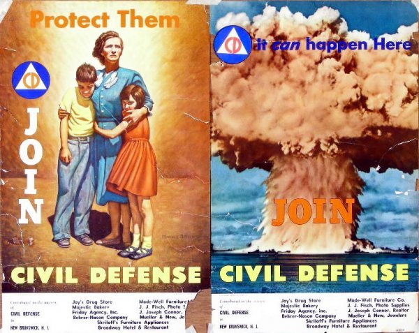 12: Join Civil Defense, two designs 2A, 2B, printed for
