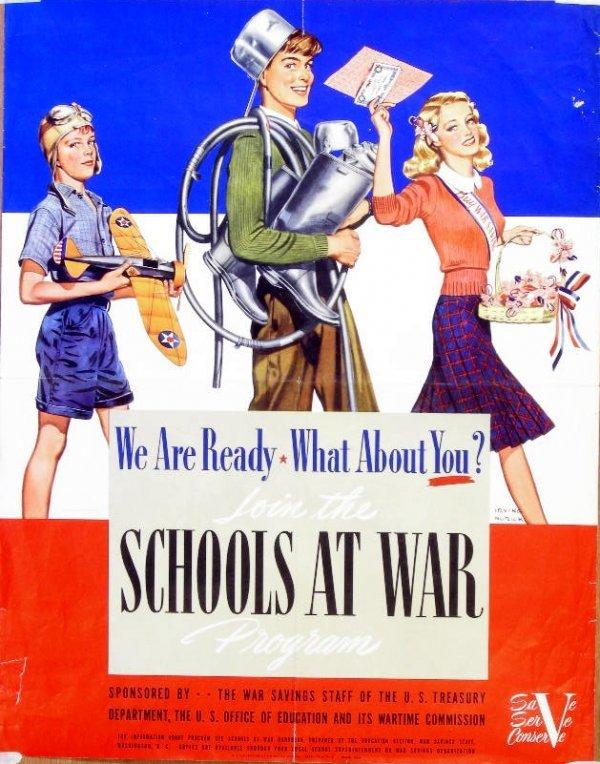 14: Irving Nurick Join the schools at war programme, pr