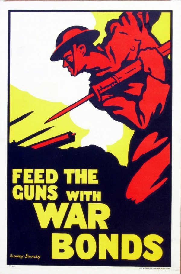 16: Sidney Stanley Feed the guns with War Bonds, No 128