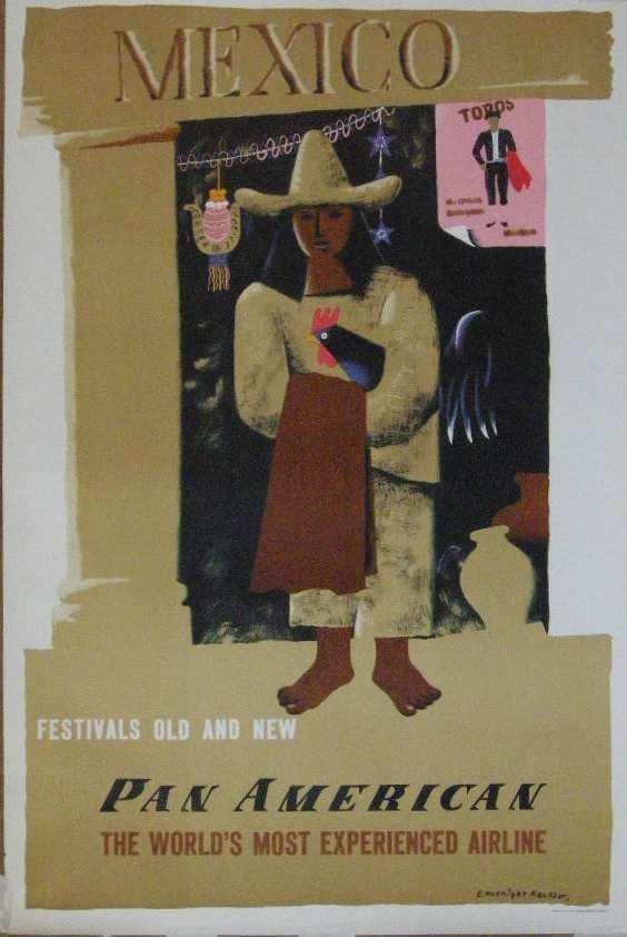 21: Edward McKnight Kauffer (1890-1954) Mexico Pan Amer
