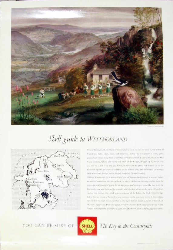 23: Claud Harrison Shell Guide to Westmorland, original