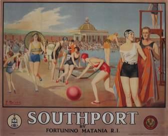 Fortunino Matania (1881-1963) Southport (The Lido)
