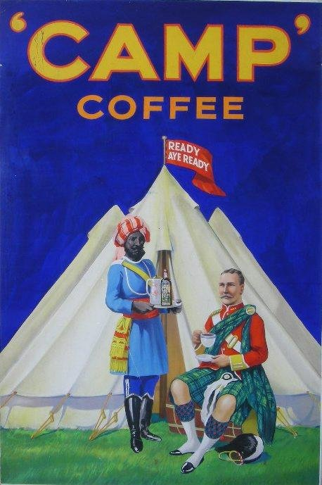 1: Anon 'Camp' Coffee, original artwork for poster desi