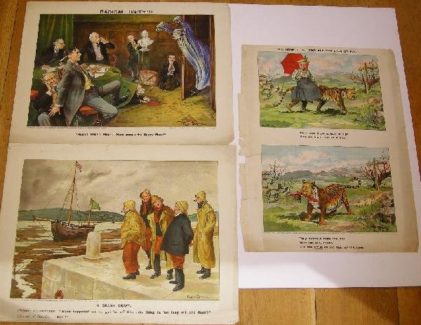 5: Ralph Cleaver Political cartoons, three late 19th Ce