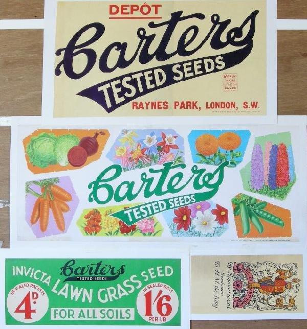 6: Carters Seeds, four various original advertising pos