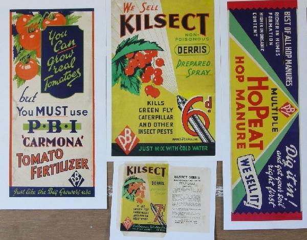 7: Carmonia Tomato Fertilizer, Kilsect Derris (2) and H
