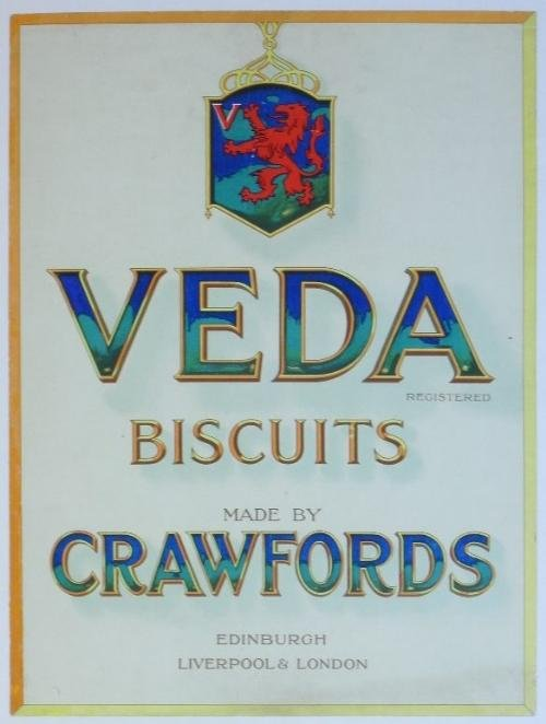 10: Veda Biscuits Made by Crawfords, original advertisi