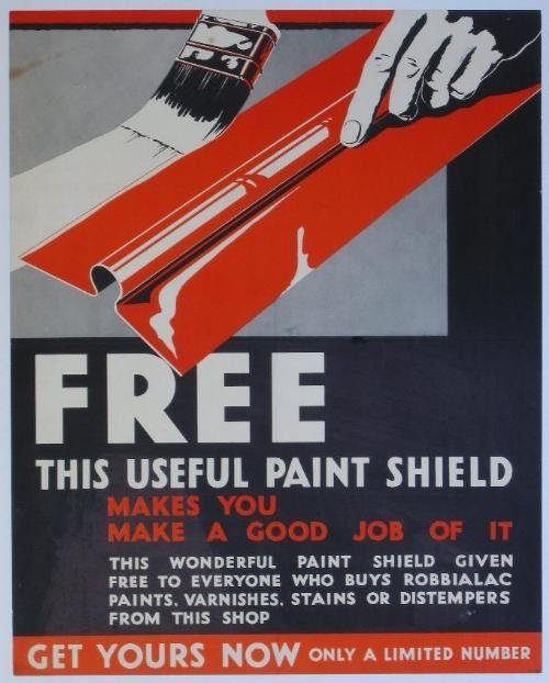 11: Anon Free this useful paint shield, original advert