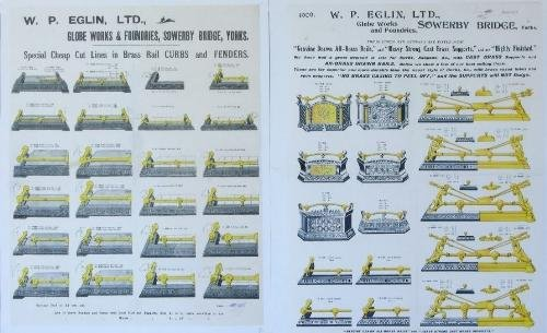 12: W P Eglin Ltd, two original advertisements for fire