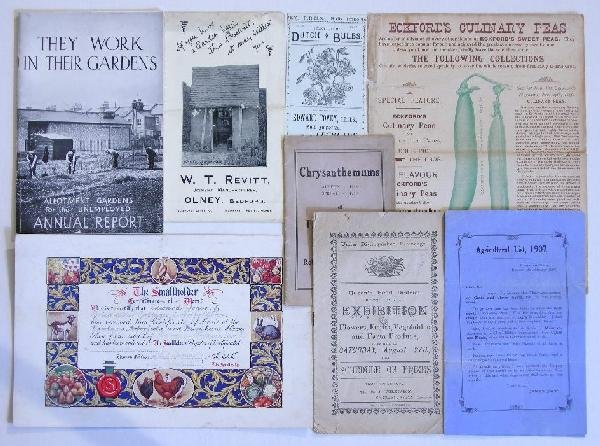 18: Horticulture, a collection of  ephemera mainly 1930