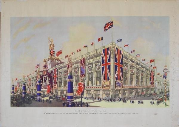 20: Ernest Coffin Selfridge Jubilee Decorations - Londo