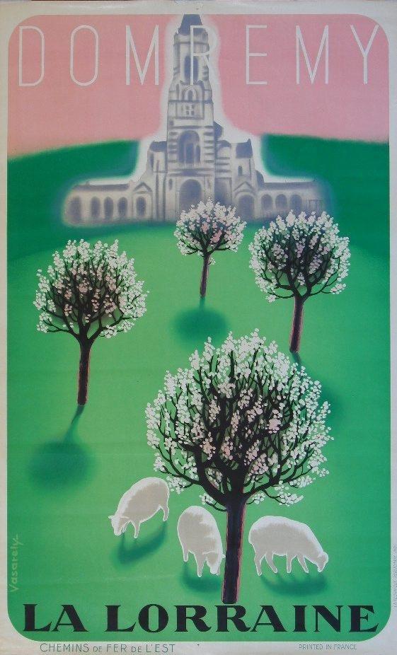 23: Vasarely Dom Remy La Lorraine Chemins de fer de l'e