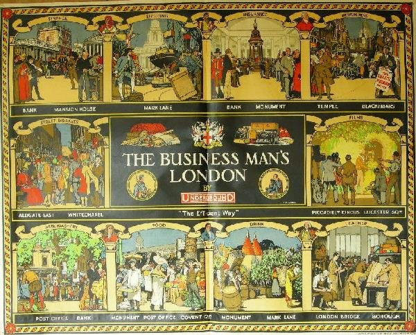 340: R T Cooper (1884-1957) The Business Man's London,
