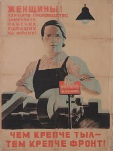 Soviet WW2, Women ! Learn production skills, replace