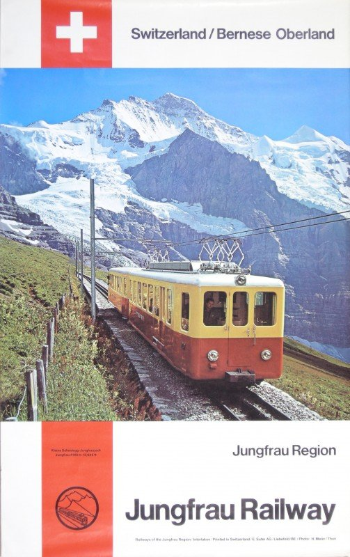 5: H Meier Jungfrau Railway Switzerland, original colou