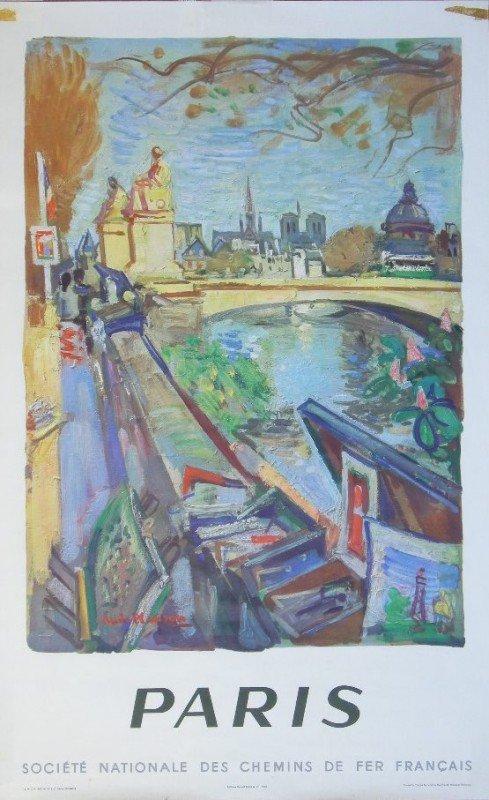 6: Andre Planson (1898-1981) Paris, original poster pri