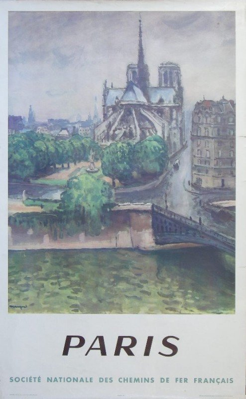 7: Anon Paris, original poster printed for SNCF by Drae