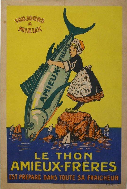 9A: Anon Le Thon Amieux Freres, original poster printed