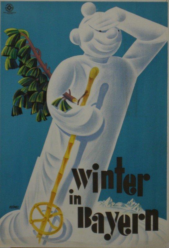 19: Keimel (Hermann 1889-1948) Winter in Bayern, origin