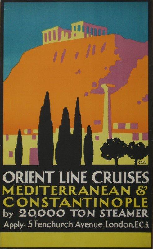 26: Horace Taylor (1881-1934) Orient Line Cruises Medit