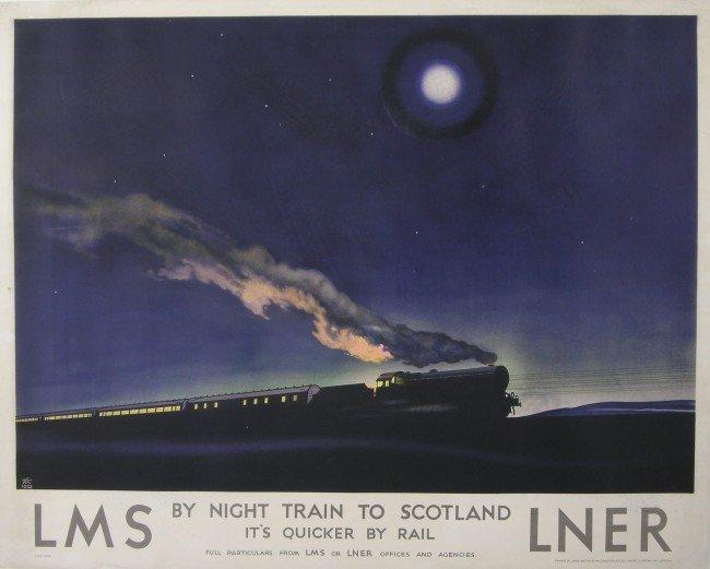 193: Zec (Philip 1900-1983) By Night Train to Scotland