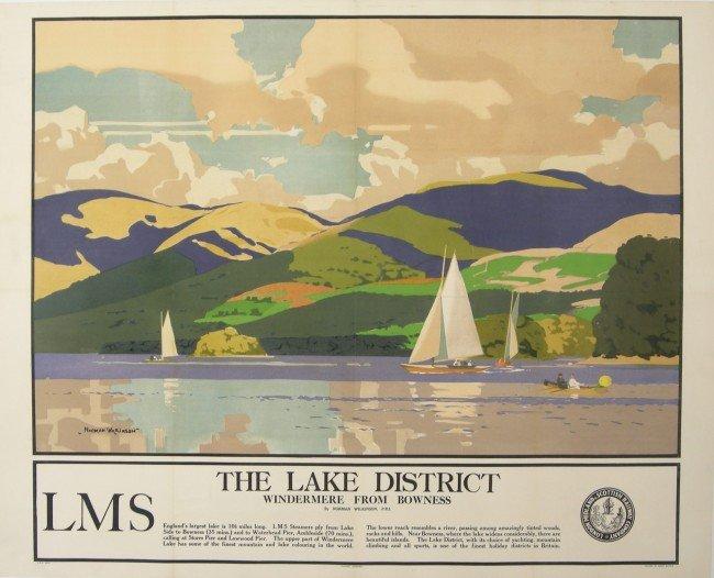 205: Norman Wilkinson (1878-1971) The Lake District Win