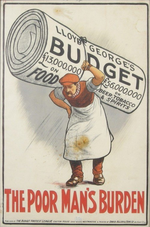 9: Anon The Poor man's burden, original poster printed