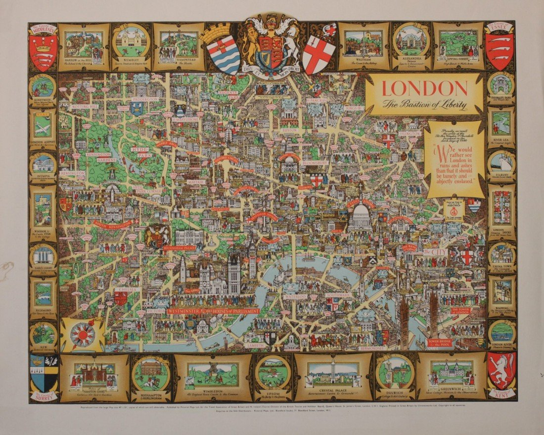 47: Kerry Lee London, original poster printed for Picto