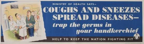 240: H M Bateman (1887-1970) Cough and Sneezes Spread D