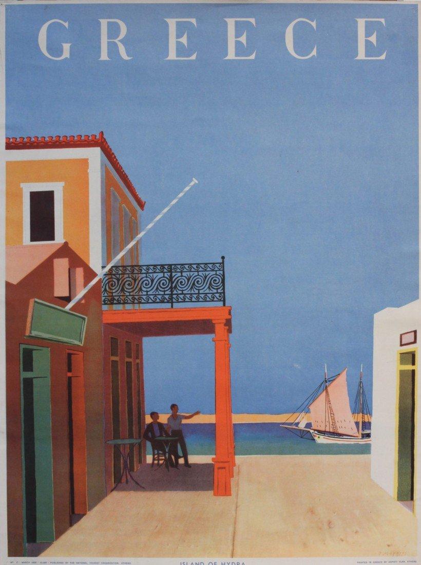 356: J Mogeyns  Greece Island of Hydra,  original poste