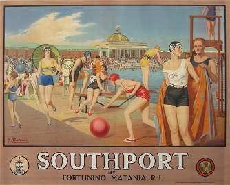 504: Fortunino Matania (1881-1963)  Southport (The Lido