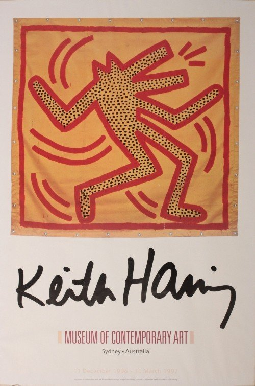 2: Keith Haring, exhibition poster Museum of Contempora