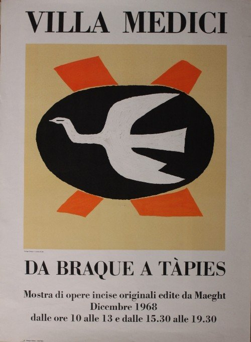 5: Georges Braque Exhibition Villa Medici December 1968