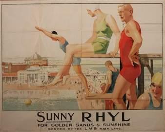 43: Sep E Scott (Septimus 1879-1962) Sunny RHYL For Gol