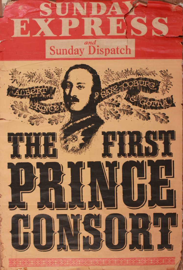 "12: Sunday Express News Stand poster ""The First Prince"