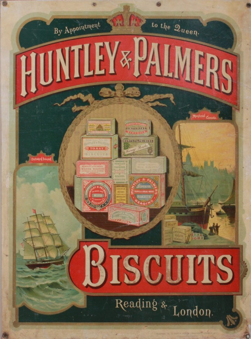 14: Late 19th Century Showcard - Huntley & Palmers Bisc