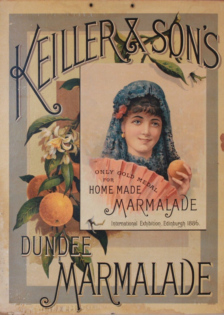 17: Late 19th Century Showcard - Keiller & Sons Dundee
