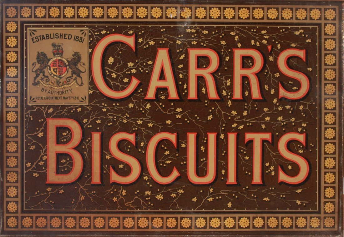 20: Late 19th Century printed tin advertising sign for