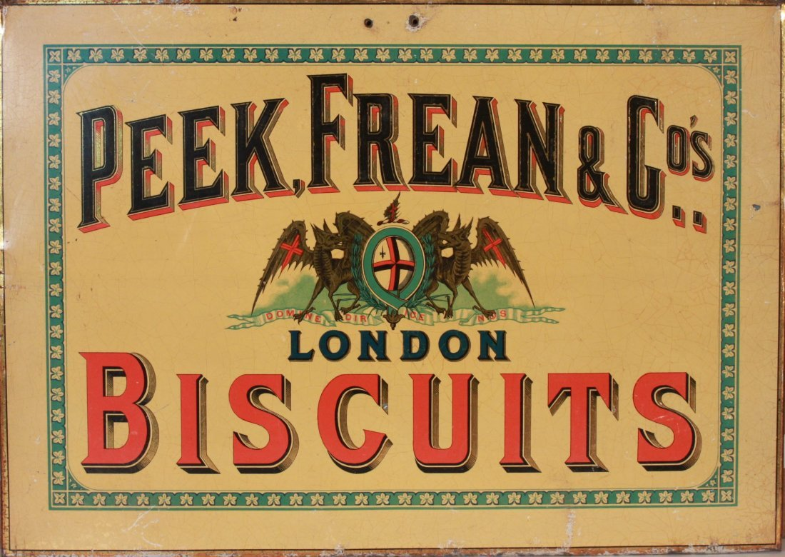 21: Late 19th Century printed tin advertising sign for