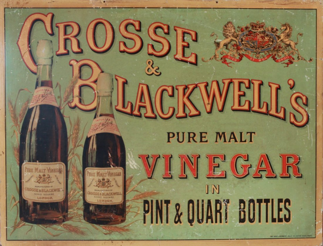 22: Late 19th Century printed tin advertising sign for