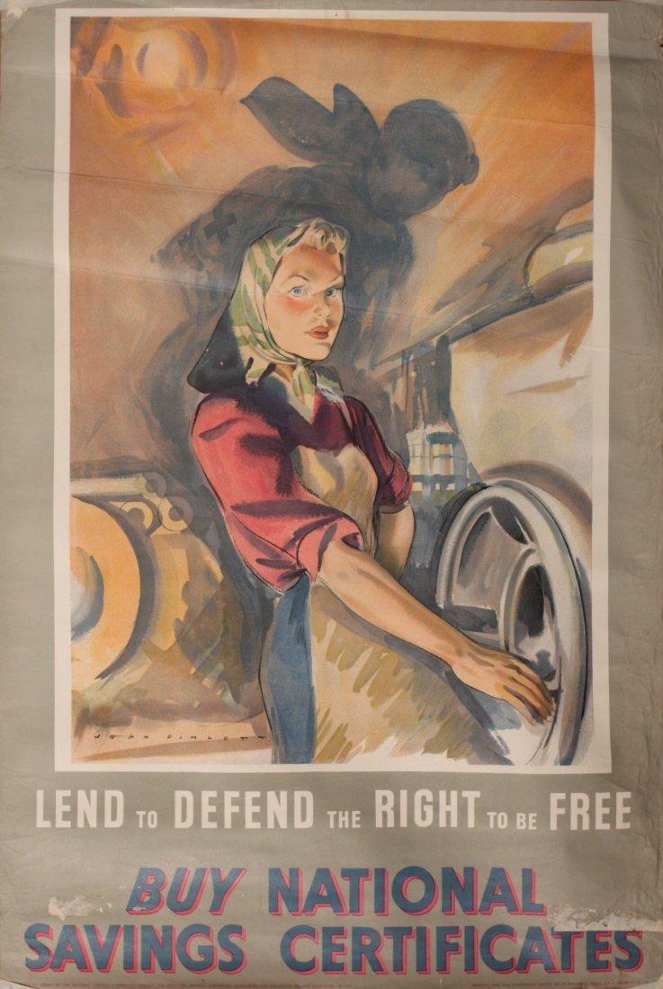 97: John Pimlott Lend to Defend the Right to be Free (F