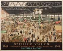 171: Helen McKie (1889-1957) Waterloo Station, A Centen