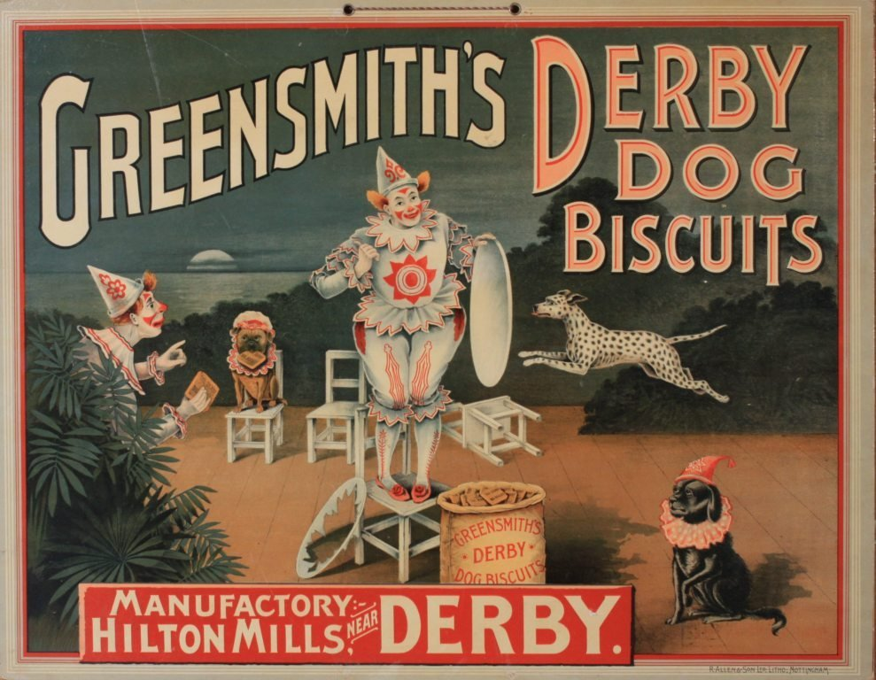 14: Anon Greensmith's Derby Dog Biscuits, original chro